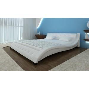 lit design courbe blanc avec matelas 180 x 200 achat vente lit complet lit design courbe. Black Bedroom Furniture Sets. Home Design Ideas