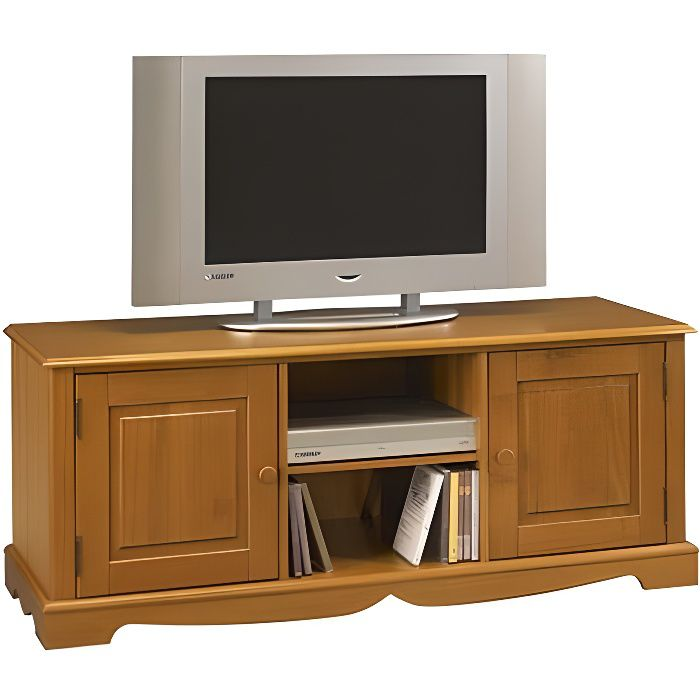 meuble banc tv pin miel de style anglais achat vente. Black Bedroom Furniture Sets. Home Design Ideas