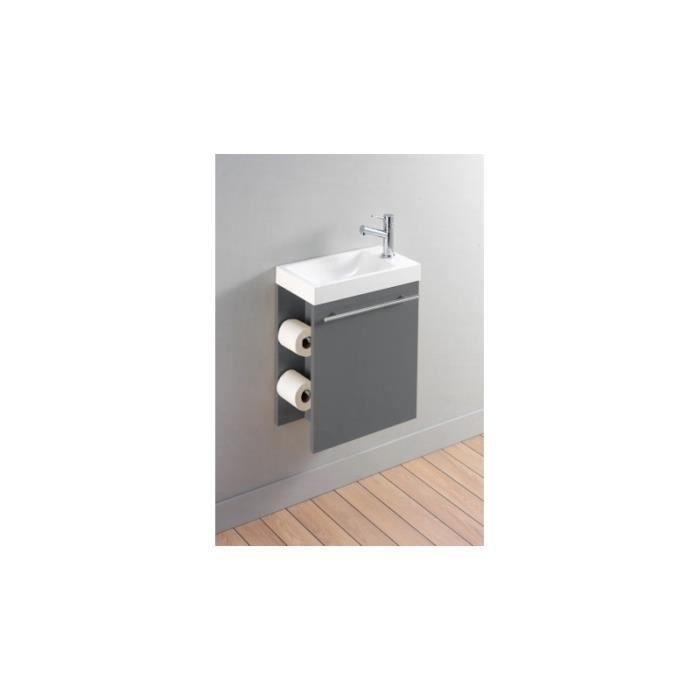 LAVABO - VASQUE Meuble lave-mains complet pour WC avec distributeu