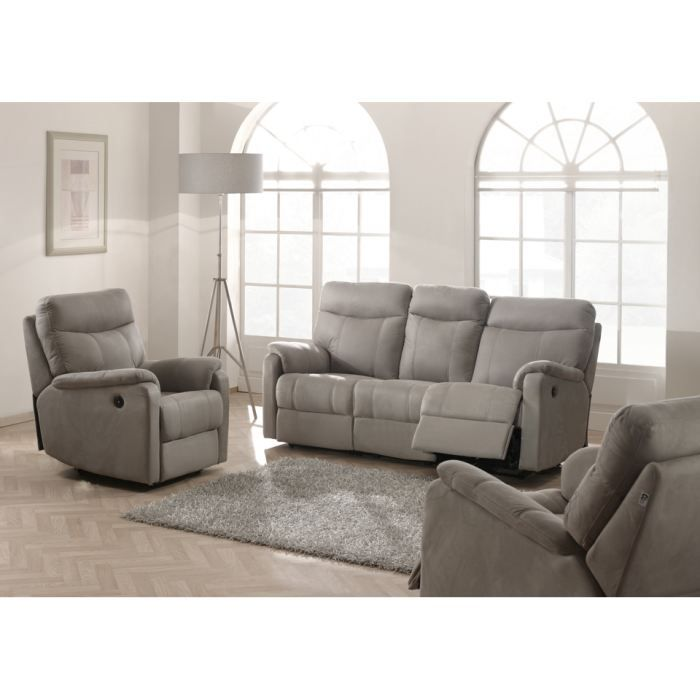 Canap relaxation 3 2 1 places switsofa malta gris achat vente canap s - Cdiscount canape relax ...