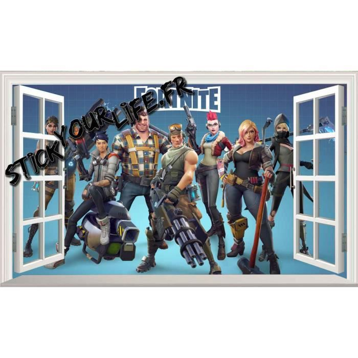 Chambre Gamer Papier Peint Fortnite
