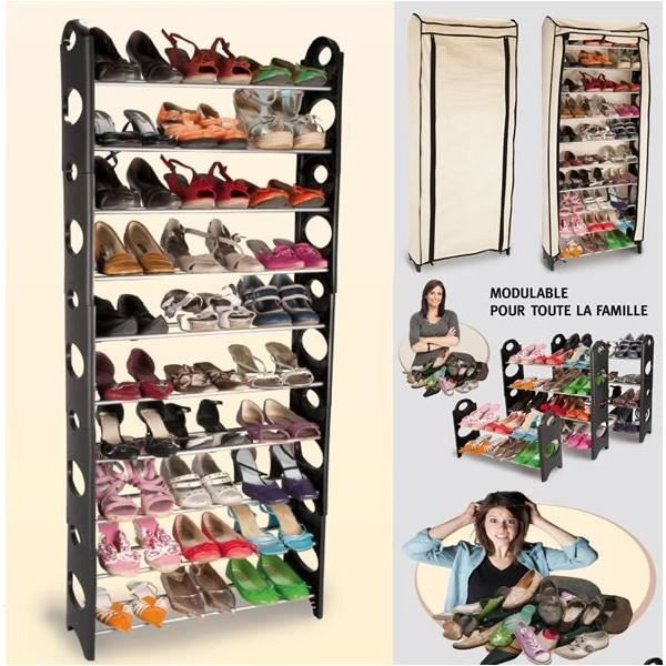etagere range chaussures modulable 2 en 1 achat vente meuble chaussures etagere range. Black Bedroom Furniture Sets. Home Design Ideas