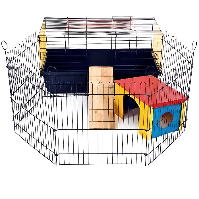 little friends rabbit 80 cage d 39 int rieur pour lapin et. Black Bedroom Furniture Sets. Home Design Ideas