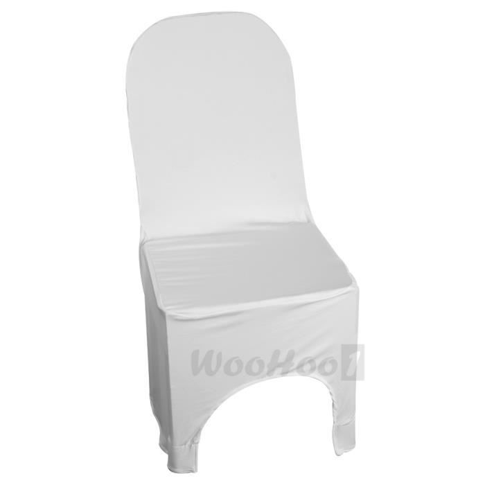 housse de chaise spandex blanc pour mariage ann achat vente housse de chaise cdiscount. Black Bedroom Furniture Sets. Home Design Ideas