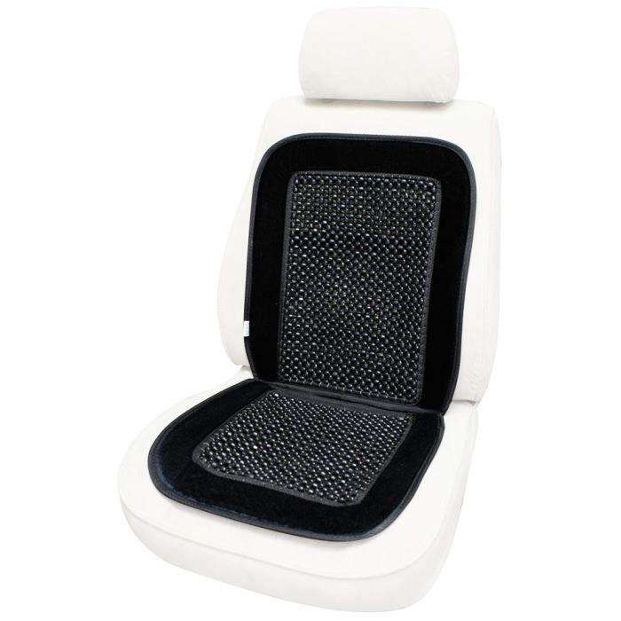 Cora 000127456 Microrolli Velour Couvre-si/ège auto /à billes Noir