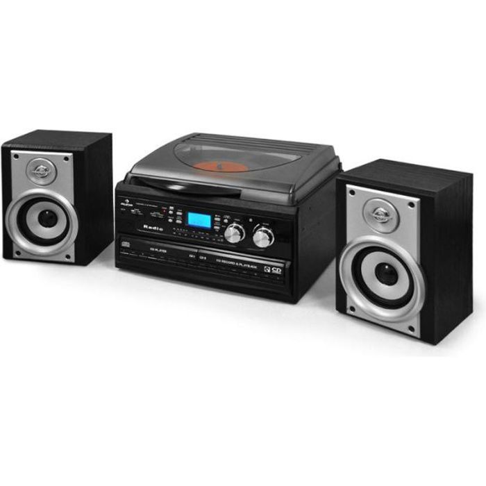 auna tcr 186 wc chaine audio hifi complete avec double. Black Bedroom Furniture Sets. Home Design Ideas