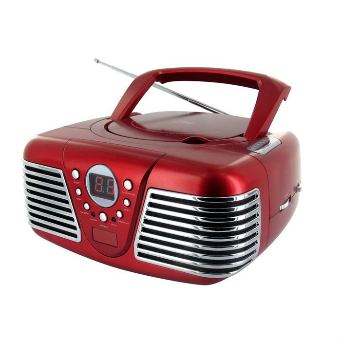 lecteur radio cd portable rouge chaine hi fi prix pas cher cdiscount. Black Bedroom Furniture Sets. Home Design Ideas
