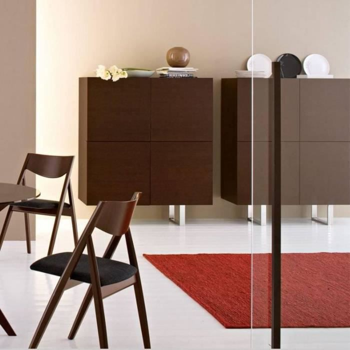 buffet haut design horizon de calligaris weng dessus verre noir 4 portes achat vente buffet. Black Bedroom Furniture Sets. Home Design Ideas