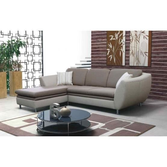 canap angle syri convertible taupe gauche achat vente canap sofa divan tissu cuir. Black Bedroom Furniture Sets. Home Design Ideas
