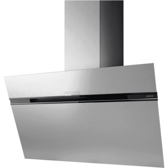 Elica - hotte décorative inclinée 90cm 735m3-h inox - stripe ix-a-90 ...