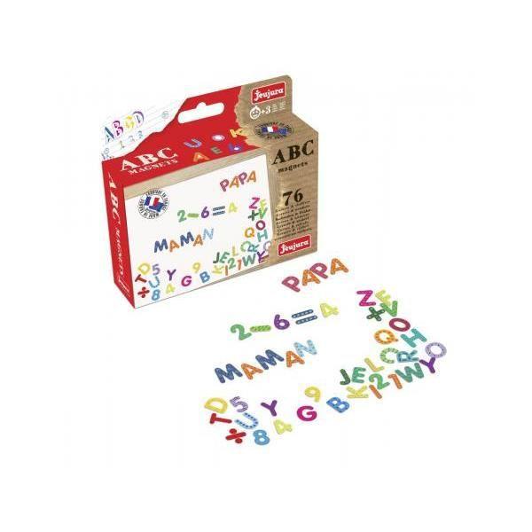 TABLEAU ENFANT JEUJURA Lettres magniétiques Magnets abc et chiffr
