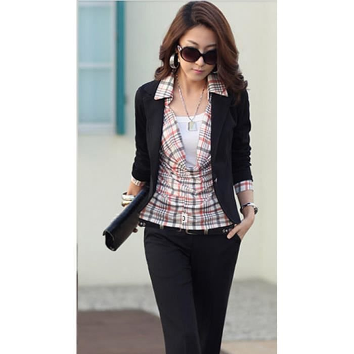 veste femme blazer achat vente veste femme blazer pas cher cdiscount. Black Bedroom Furniture Sets. Home Design Ideas