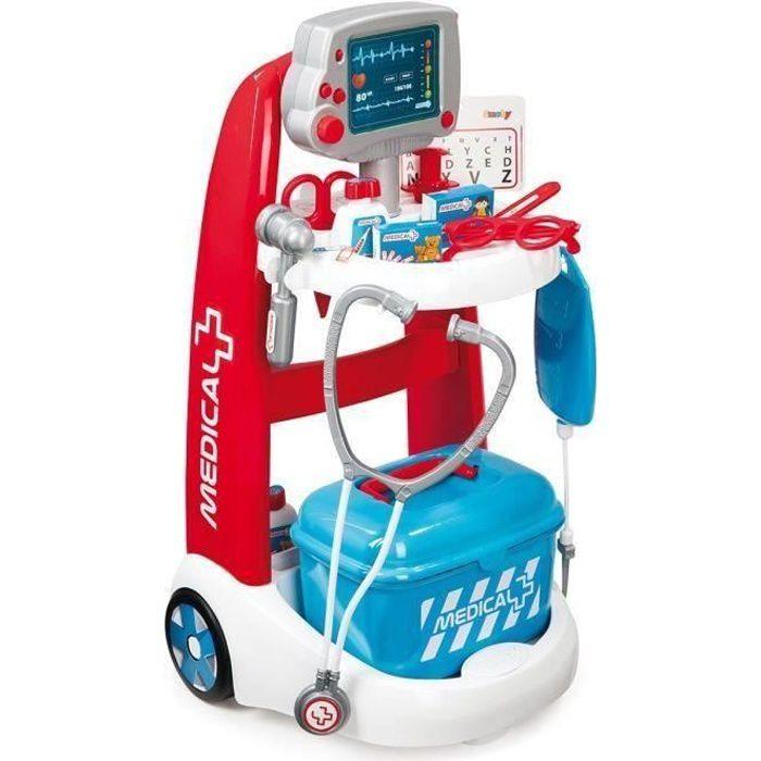 DOCTEUR - VÉTÉRINAIRE SMOBY Chariot Médical Electronique + Accessoires