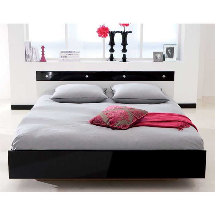 lit coffre 160x200. Black Bedroom Furniture Sets. Home Design Ideas