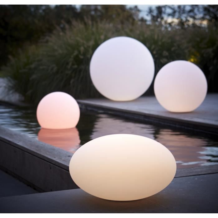 boule lumineuse ronde 30 cm lampe de jardin design achat. Black Bedroom Furniture Sets. Home Design Ideas
