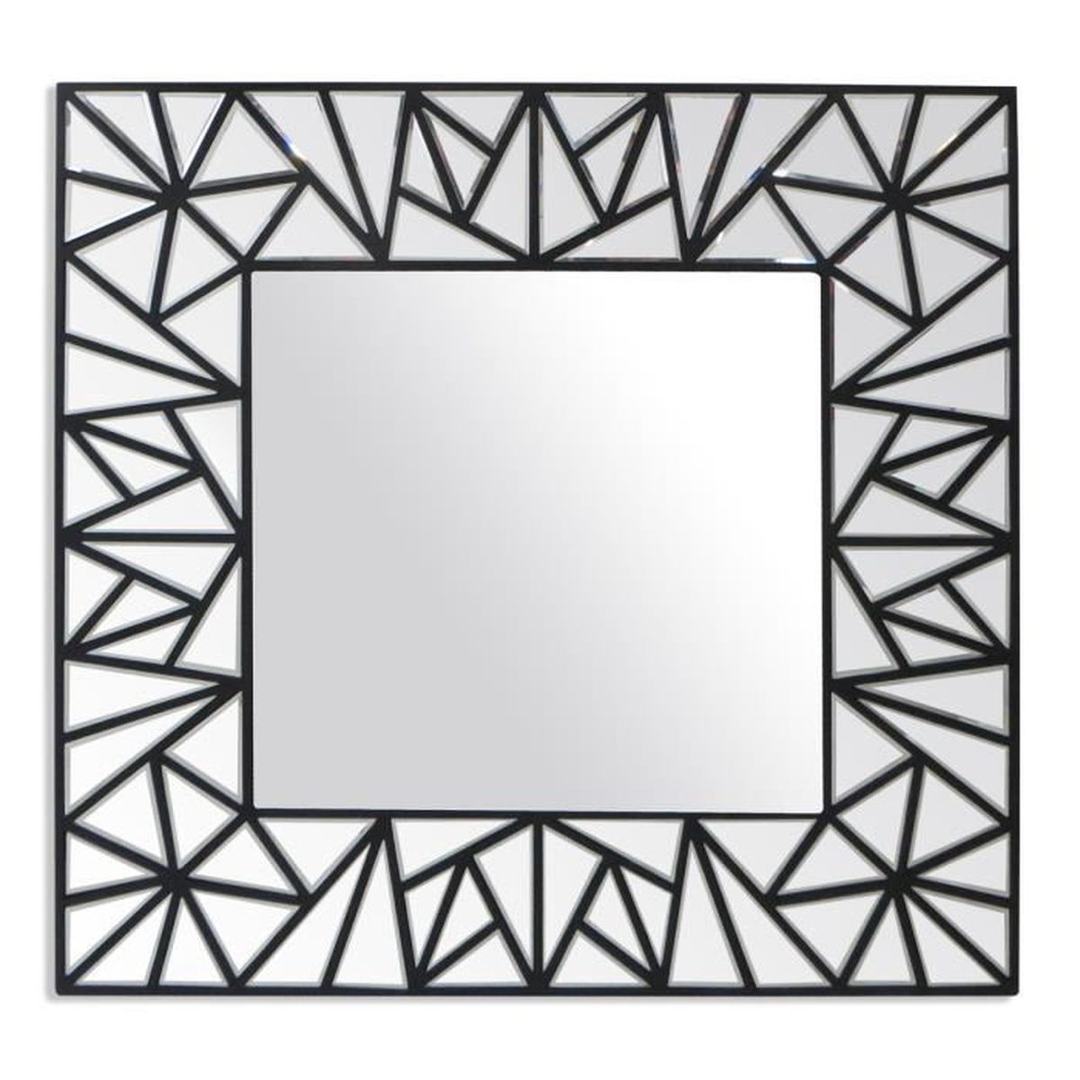 miroir design mosaique noir achat vente miroir soldes d t cdiscount. Black Bedroom Furniture Sets. Home Design Ideas