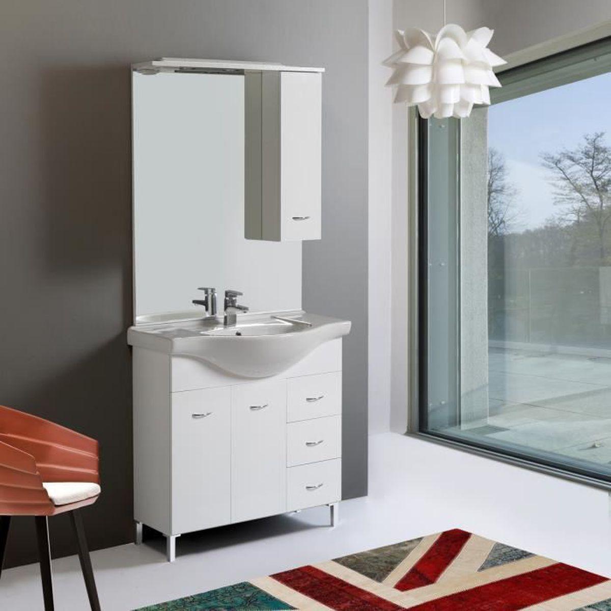 Modelle Salle De Bain salle de bain mobile de 85 cm modÈle perla - achat / vente