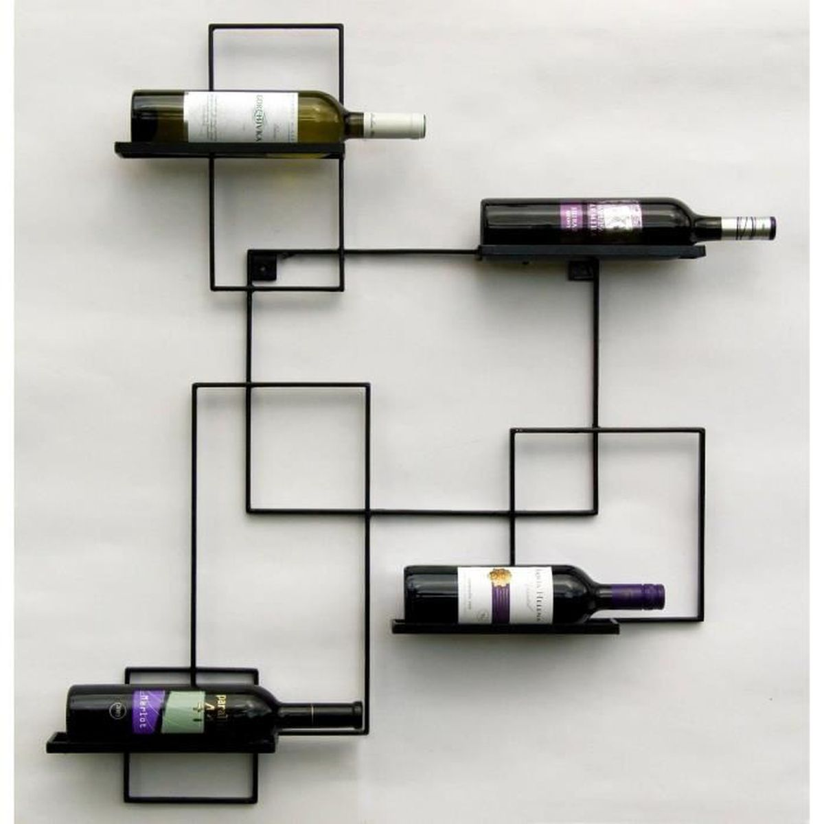 """Support A Bouteille De Vin Mural dandibo casier à vin """"black line"""" porte-bouteilles métal"""