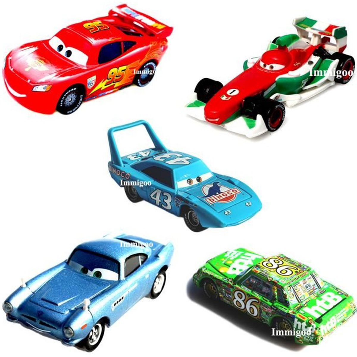 immigoo cars 5 pieces flash lightning mcqueen c 01 francesco bernoulli c 17 finn mcmissile c 16. Black Bedroom Furniture Sets. Home Design Ideas