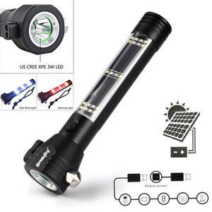LAMPE DE POCHE Lampe-torche solaire de puissance 3W avec l'aimant