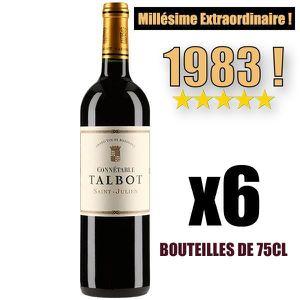 VIN ROUGE X6 Connétable Talbot 1983 75 cl AOC Saint-Julien 2