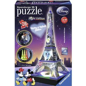 PUZZLE Disney - Puzzle 3D - Night Edition - 216 Pièces -