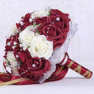 Bouquets De Mariage Vin Rouge Blanc Fait A La Main Fleur De Mariee Cadeaux De Fete De Mariage Accessoires De Mariage Fleurs Poire
