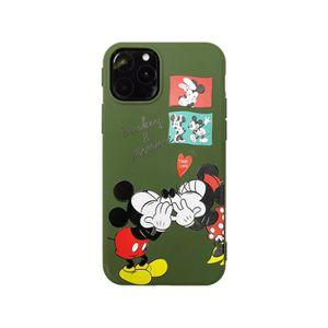 COQUE - BUMPER Coque iPhone 11,Disney Mickey Minnie KISS Antichoc