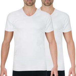 T-SHIRT Lot de 2 Tee shirt col V homme Coton Bio