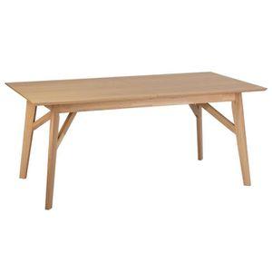 TABLE À MANGER SEULE Table à manger extensible en chêne couleur bois -