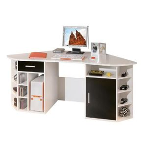 bureau d 39 angle avec rangement achat vente pas cher. Black Bedroom Furniture Sets. Home Design Ideas