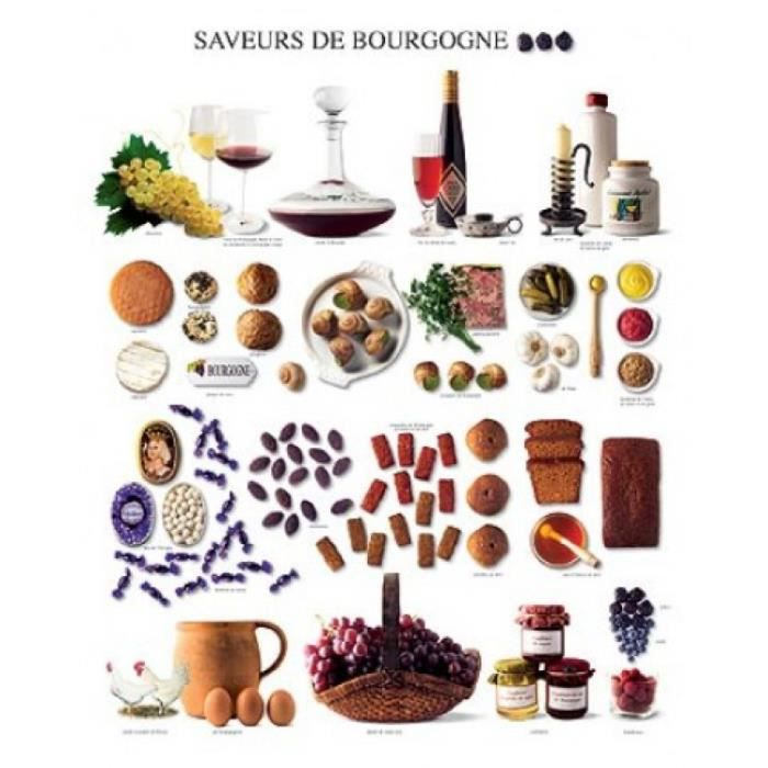 cuisine poster reproduction saveurs de bourgogne 50 x 40 cm achat vente affiche poster. Black Bedroom Furniture Sets. Home Design Ideas