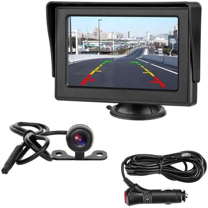 Caméras de Recul Pour Voiture Caméra de recul avec écran LCD 4,3- - Caméra de recul étanche IP68 - Système d'aide au station 2373