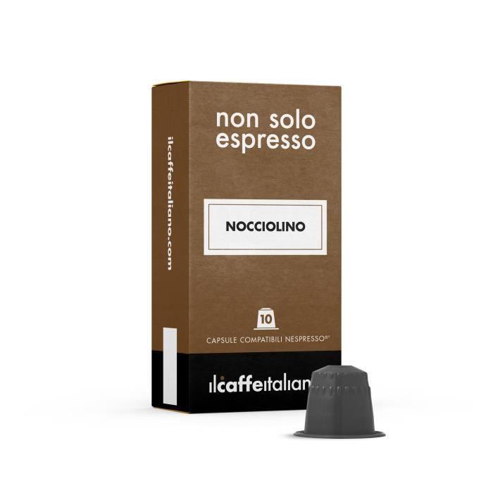 50 Capsules de Soluble Nocciolino compatibles avec machines Nespresso - Nespresso 50 x Dosettes - Il Caffè Italiano