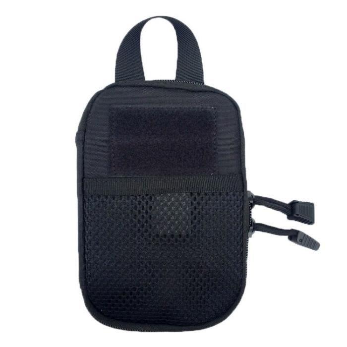 black -Sac de ceinture militaire pour hommes, pochette de hanche, ceinture, téléphone, étui portefeuille en Nylon Molle, vente Flash