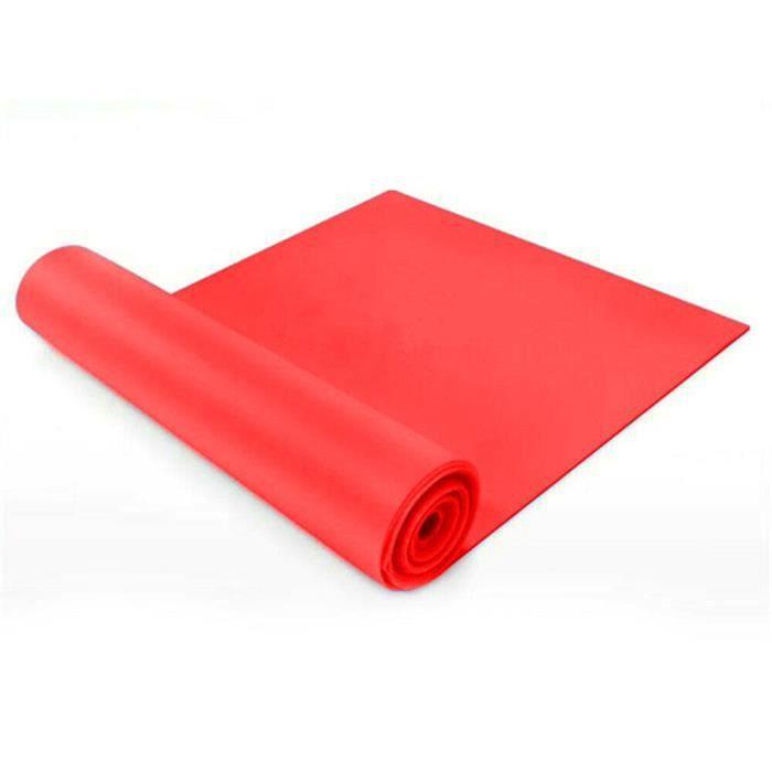 1.5-2m Bandes de résistance Theraband Physio Ballet Pilates Yoga Gymnastique Bandes - 2M (Rouge)