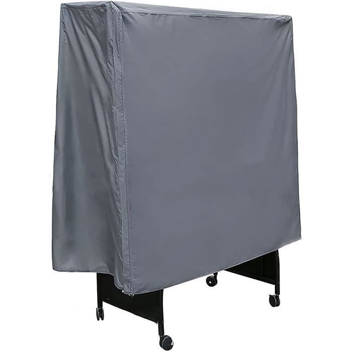 ZCBHSD Gris Imperm&eacuteable Couverture de Ping Pong Table,152 * 52 * 144cm(Oxford Polyester PU Rev&ecirctement)[82]