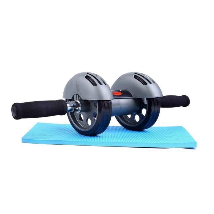 Rouleau d'Abdo, Rouleau à Roue de Abdo avec Le Tapis de Genou, Double Trainers abdominaux exercent l'équipement de Forme Physique