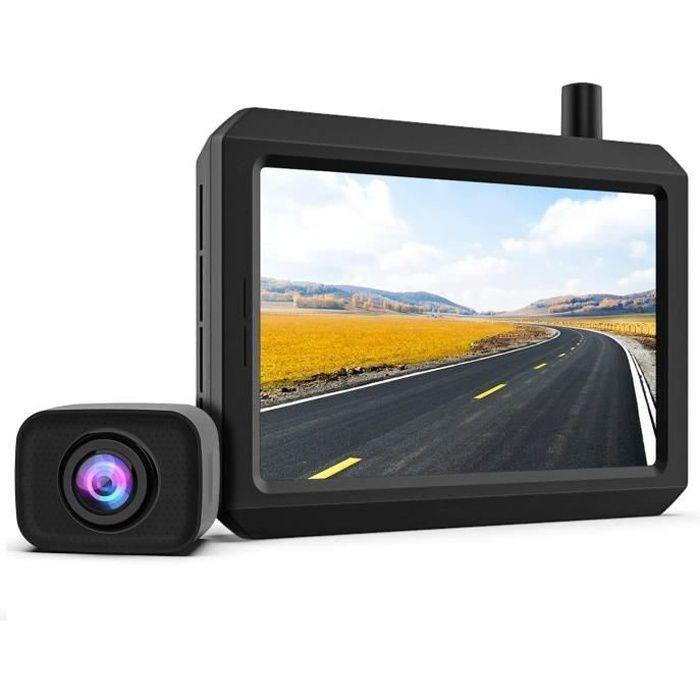 K7PRO Caméra de recul sans Fil, Digital Signal, 5 Pouces, Supporter Double caméra, Caméras étanches IP68 avec Vision Nocturne