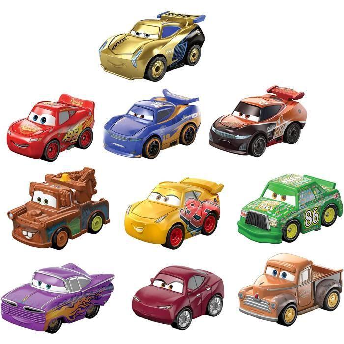 MAISON DE JEUX EXTERIEURE - MAISONNETTE Disney Pixar Cars mini-v&eacutehicules, pack de 10 petites voitures miniatures, jouet231