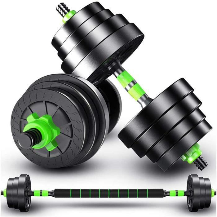 Haltères Premium- Haltère Long- Fitness Kit D'haltères Réglables pour Homme Et Femme- pour Exercices De Gymnastique-Fitness- K[401]