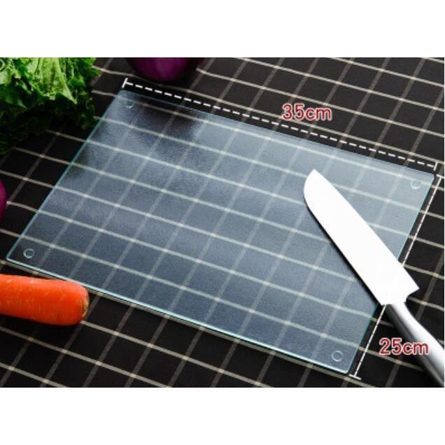 Planche à découper,Planche à découper en verre trempé Planche à découper pour fruits, plaque de - Type Transparent-350x250mm