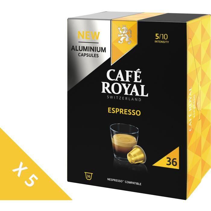 [Lot de 5] CAFE ROYAL Café compatible Nespresso Alu Espresso x36