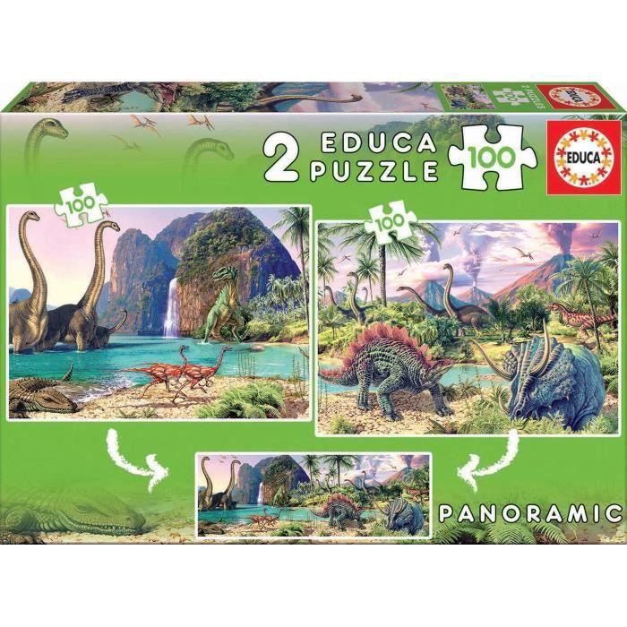 EDUCA - Puzzle - 2x100 DINO WORLD