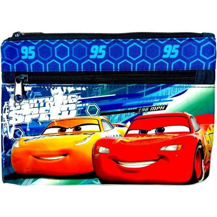 Trousse enfant Cars Disney 25 x 15 toilette bleu GUIZMAX