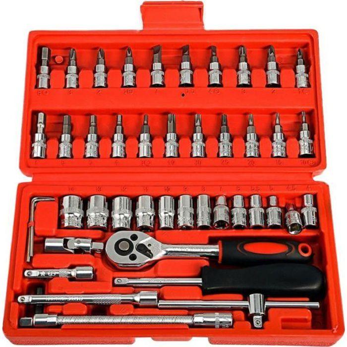 Pcs Outil De Réparation Voiture Socket Set Kit Boîte À Outils Combo (Rouge) KIT DE DEBOSSELAGE