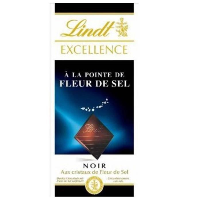 LINDT Excellence Noir Fleur de sel 100g
