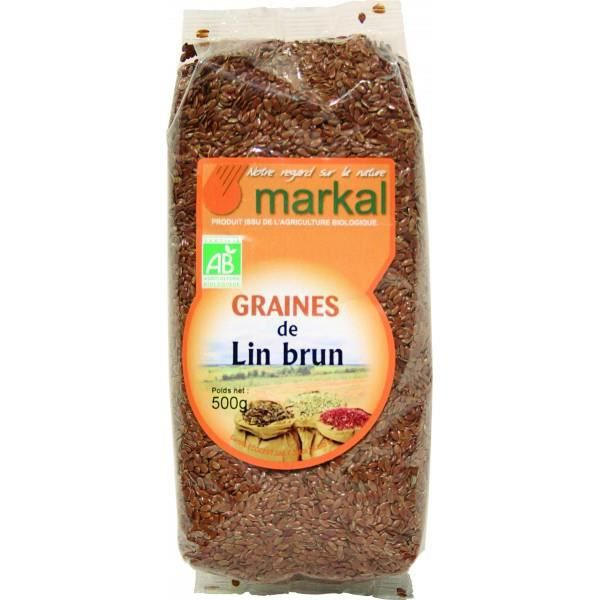 Graines de lin brun, 500g, Markal
