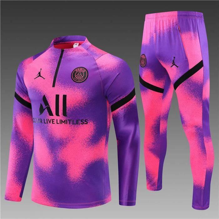 Maillot de Foot - Maillot de Football Homme Enfants 2021 Ensemble Survêtements D'entraînement de Football Haut et Pantalon
