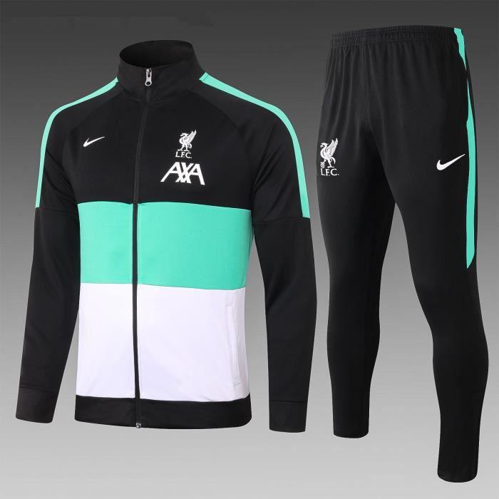 Survêtement de Foot Homme Veste 2020 2021 Nouveau Maillot de Football Pas Cher Survet Kit